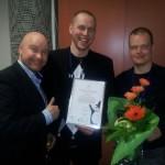 Vesa, Janne ja Samuli eEemeli-palkintojenjaossa