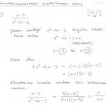 Rationaalilausekkeen sieventäminen, esim. 3, tulostus