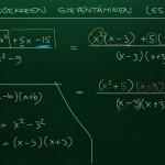 Rationaalilausekkeen sieventäminen, esim. 4