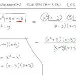 Rationaalilausekkeen sieventäminen, esim. 4, tulostus