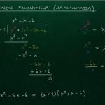 Polynomin jakaminen jakokulmassa, esim 1
