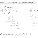 Polynomin jakaminen jakokulmassa, esim 1, tulostusversio