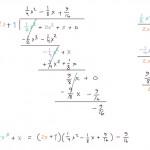 Polynomin jakaminen jakokulmassa, esim 3, tulostusversio