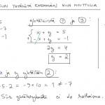Yhtälöryhmä, kun yhtälöitä enemmän kuin muuttujia, tulostusversio