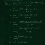 Derivointikaavan johtaminen 2. asteen polynomeille