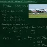 Logaritmifunktion derivaatta: lentokonesovellus