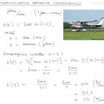 Logaritmifunktion derivaatta: lentokonesovellus, tulostus