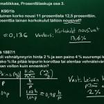 YO-esimerkkejä prosenttilaskennasta, osa 2