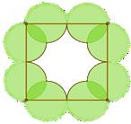 Mikä on sisällä olevan valkoisen alan osuus neliön alasta?